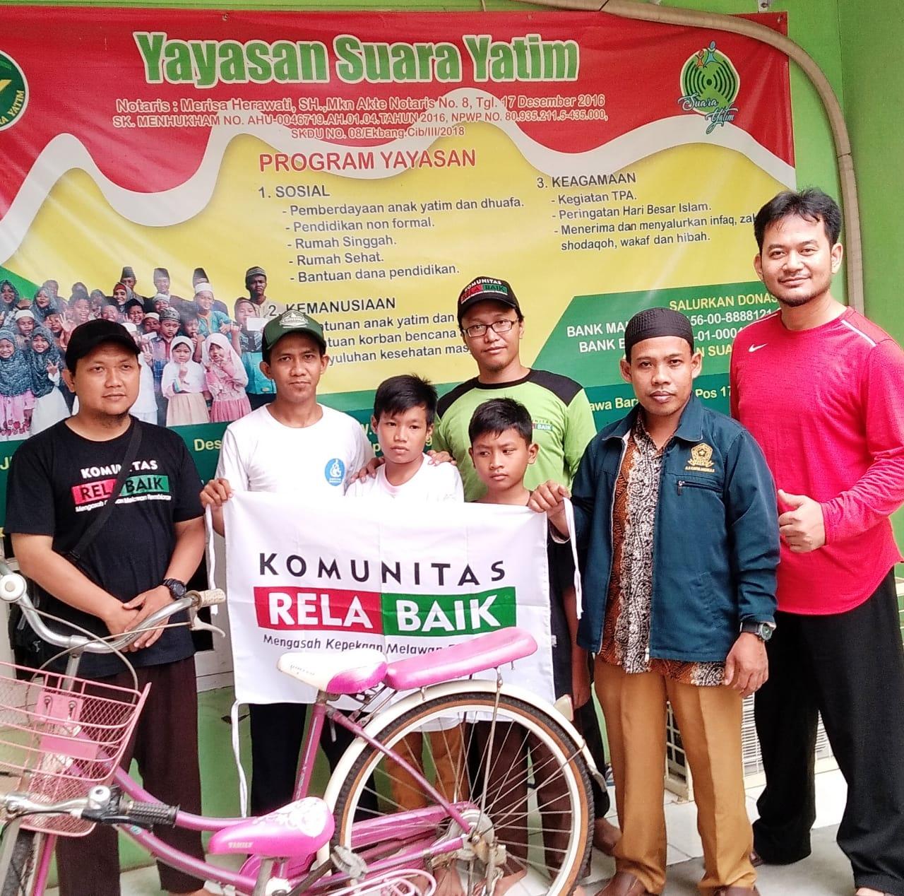 Komunitas Rela Baik ke Yayasan Suara Yatim