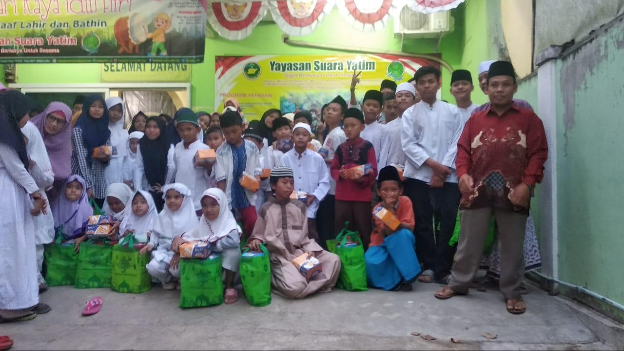 Santunan Akbar, menyambut Idul Fitri 1440 H di Yayasan Suara Yatim
