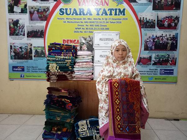 Yayasan Suara yatim Mendapat Kiriman Sajadah dari Donatur